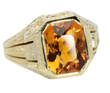 Allsopp Bros. Art Deco Citrine Ring
