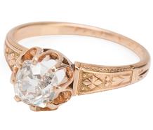 Victorian Cushion Cut Diamond Ring