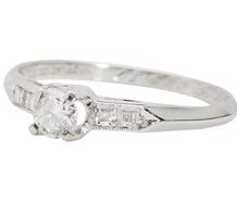Vintage Five Diamond Engagement Ring
