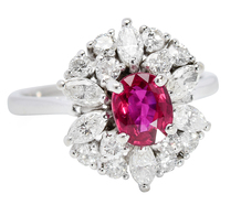 Crimson Kiss - Ruby & Diamond Ring