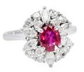 Crimson Kiss - Ruby & Diamond Ring