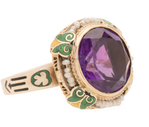 Daringly Different - Amethyst Pearl Ring