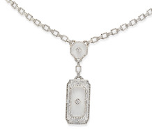 Krementz Diamond & Rock Crystal Necklace