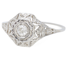 Unimagined Places - Filigree Engagement Ring