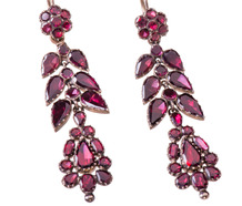 Magnificent Georgian Day Night Garnet Earrings