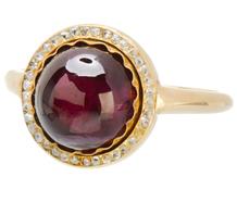 Wearable Confection - Antique Garnet Diamond Ring