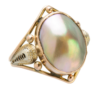 Art Nouveau Blister Pearl Ring