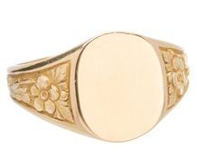 Mais Oui - French 18k Signet Ring