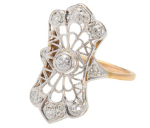 Artful Lace in a Diamond Ring