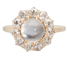 Romance & Light - Moonstone Halo Ring
