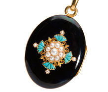 Treasures & Secrets - Turquoise Pearl Locket Pendant