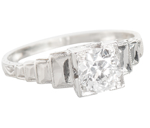 Art Deco & Stepped Forms - 1930 Diamond Ring