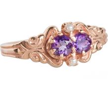 Ultra Femininity - Amethyst Pearl Ring