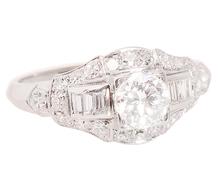 On the Horizon - Art Deco Diamond Ring