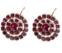 Fifty Shades of Garnet - Georgian Earrings