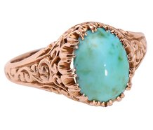 Complimentary Colors - Antique Turquoise Ring