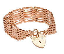 English Gate Bracelet & Heart Padlock