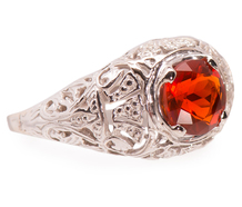 Estate Fire Opal Filigree Ring
