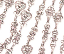 Vintage Silver Long Guard Chain