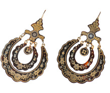 Large & Spectacular - Victorian Piqué Earrings