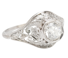 A Treat of a Diamond Platinum Ring