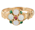 Victorian Opal Cluster Ring