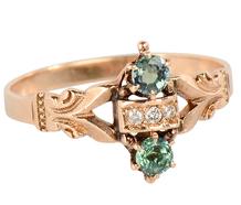 Scarce Green Goddess - Alexandrite Ring