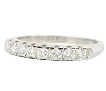 Diamond Set Half Eternity Band