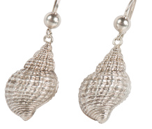 Nature's Art - Victorian Silver Seashell Earrings