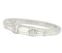 Estate Diamond Platinum Wedding Band