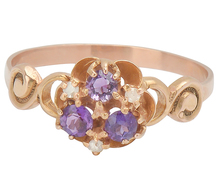 Medley of Color - Amethyst Buttercup Ring