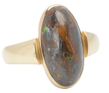 Unique Boulder Opal Ring
