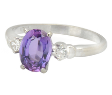 Dramatic Purple Sapphire Ring
