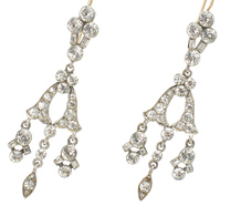 Edwardian Paste Chandelier Earrings