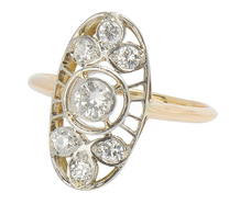 Weave of Diamonds - Antique Ring of 1896