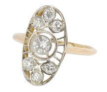 Weave of Diamonds - Antique Ring of 1896