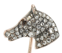 Victorian Diamond Horse Head Stickpin