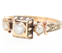 Renaissance Revival Diamond Pearl Ring