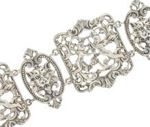 Cini Renaissance Motif Sterling Bracelet