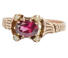 Raspberry Dreams - Victorian Garnet Ring