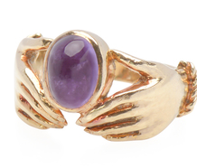 Holding Hands Fede Ring with Amethyst