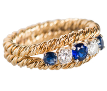 Attention Getter Sapphire Diamond Ring