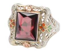 Harmony of Flowers - Art Deco Garnet Ring