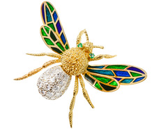 Hammerman Bros. Diamond Bee Brooch