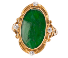 Gloriously Green - Natural Jadeite Ring