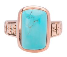 Arresting Edwardian Turquoise Ring