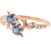 Antique American Double Sapphire Ring