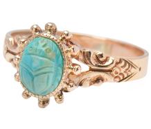 Egyptian Reincarnate - Turquoise Scarab Ring