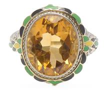 Breathless - Citrine Gemstone Vintage Ring