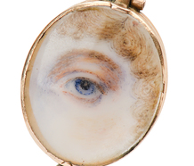 Flaming Hearts - Secret Lover's Eye Locket